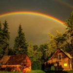 Murray Foubister, Celista B.C.spectacular rainbows at sunset in the rain (11266143503), CC BY-SA 2.0